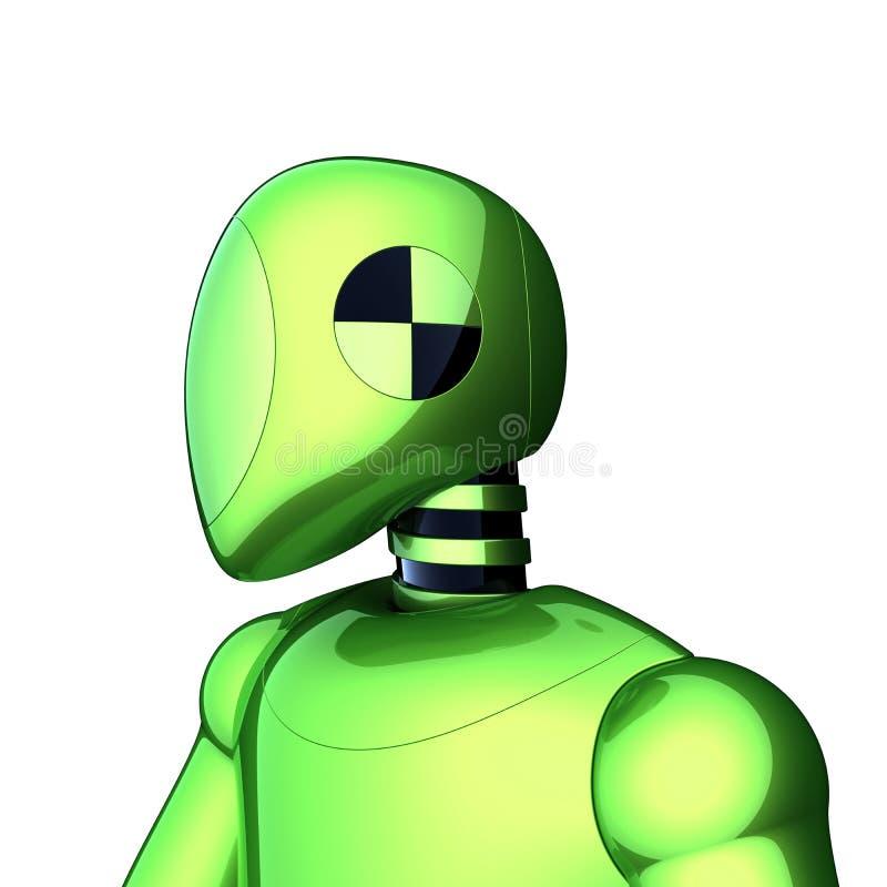 Groen bot van robot futuristisch cyborg androïde karakter royalty-vrije illustratie