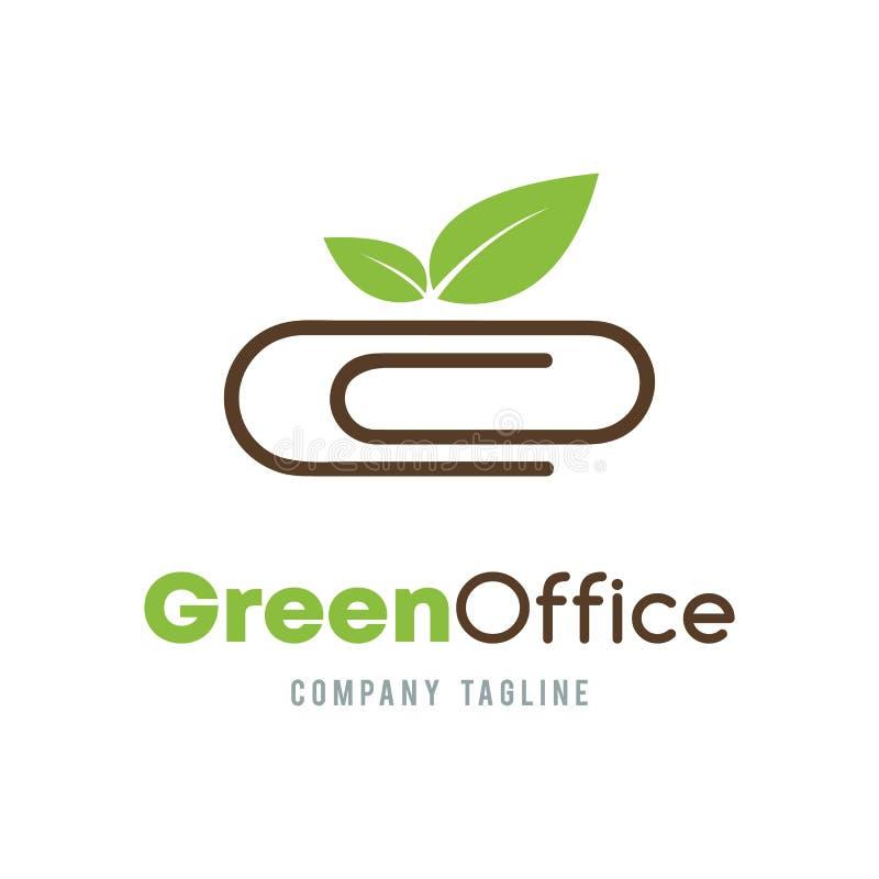 Groen Bureau bedrijfs abstract vectorembleemontwerp Organische Ecolo royalty-vrije illustratie