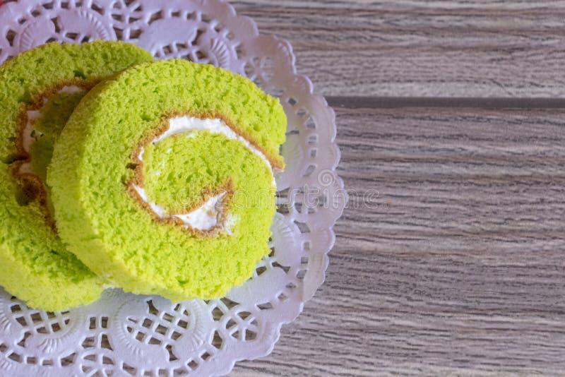 Groen Cakebroodje stock foto