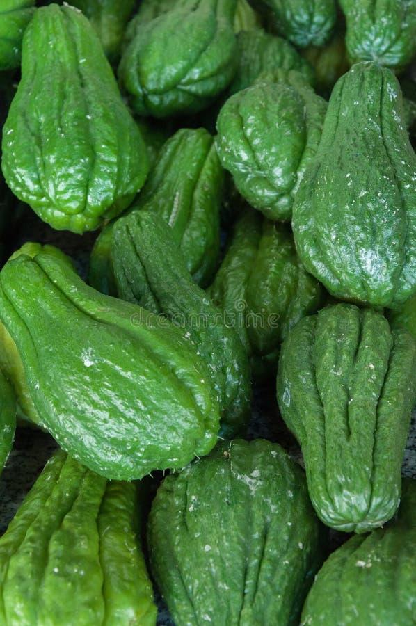 Groen Chayote stock afbeelding