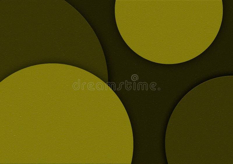 Groen cirkel gestalte gegeven ontwerp als achtergrond voor behang stock illustratie