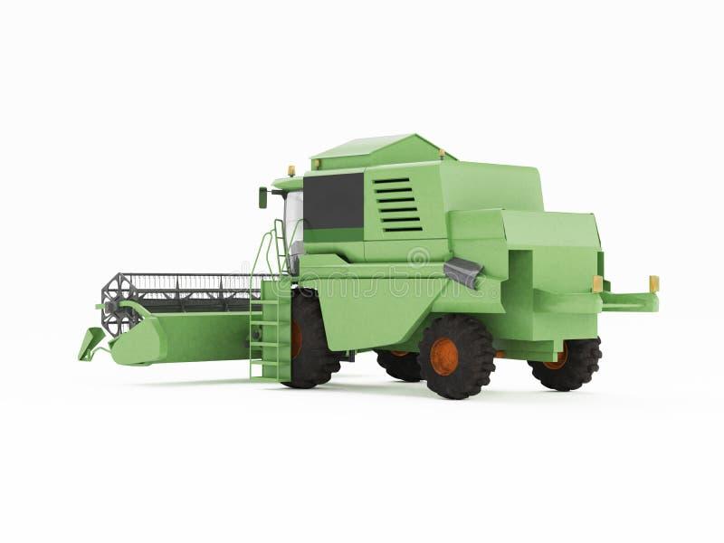 Groen combineer afzonderlijk op een witte achtergrond stock illustratie