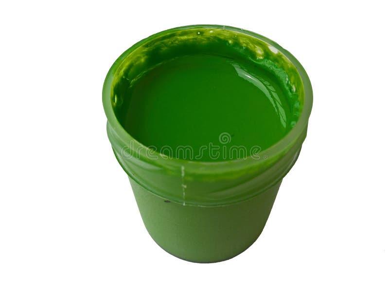 Groen de Geïsoleerde Kleur stock fotografie