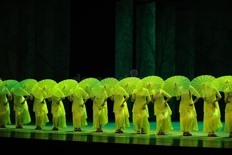 Groen de jaar-tweede handeling van de gebeurtenissen van dans drama-Shawan van het verleden stock fotografie