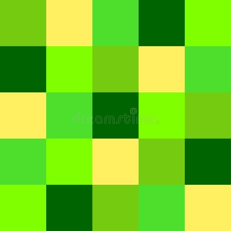 Groen 2019 de Kleurenpalet van het in neonufo als abstracte naadloze achtergrond royalty-vrije illustratie
