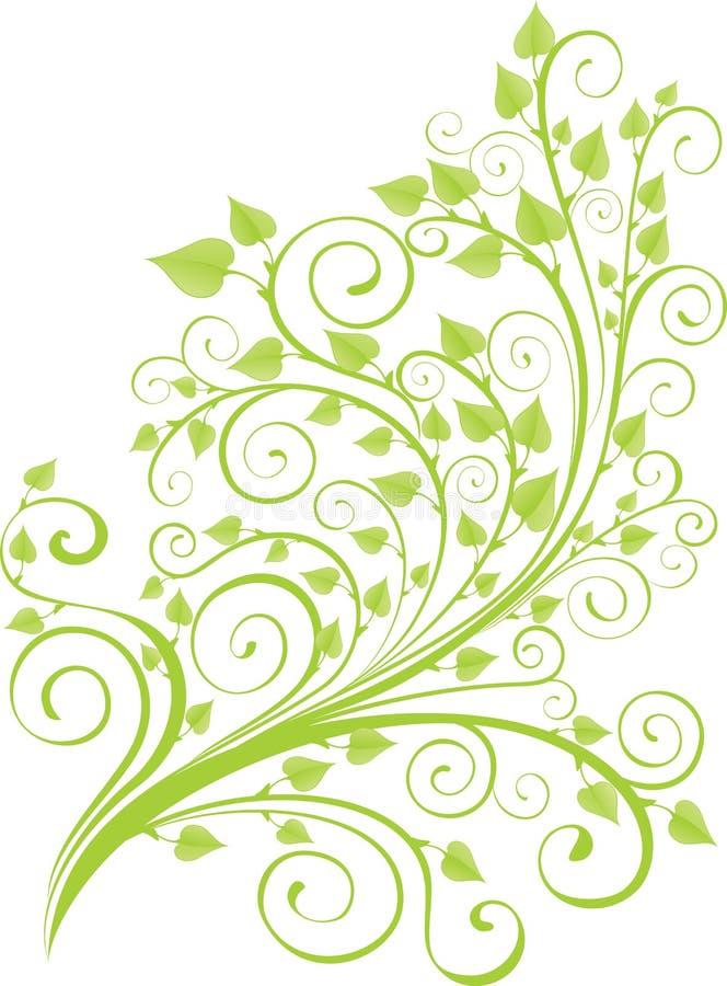 Groen de lentetakje royalty-vrije illustratie