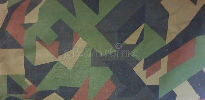 Groen de Textuurpatroon van de Camouflagekleding voor Achtergrondbehang stock foto