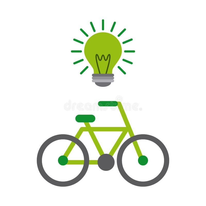 groen denk ontwerp stock illustratie