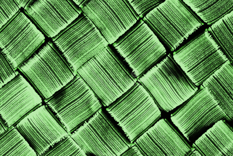 Groen diagonaal geweven patroon stock afbeelding