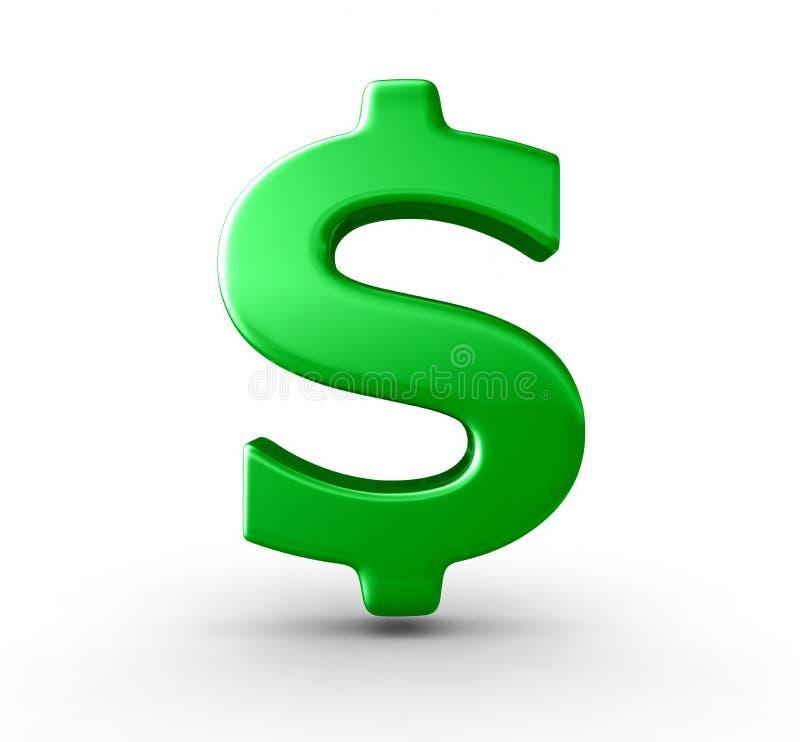 Groen dollarteken stock illustratie
