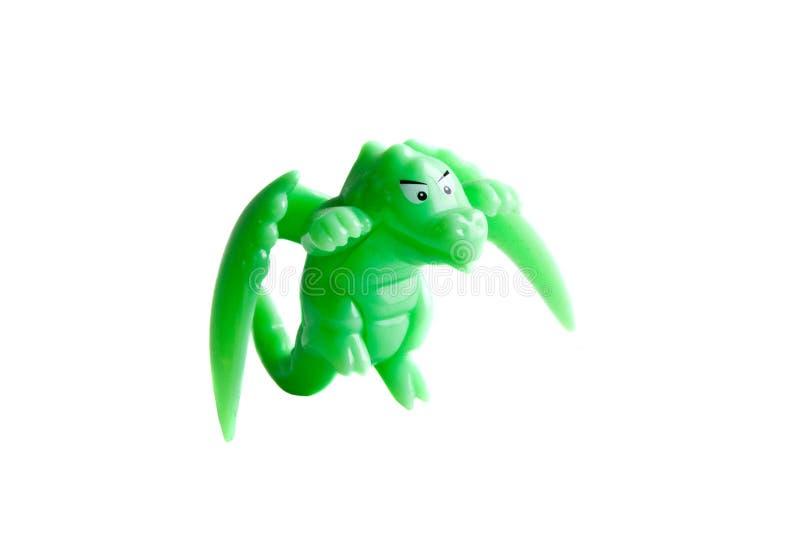 Groen draakstuk speelgoed royalty-vrije stock afbeelding