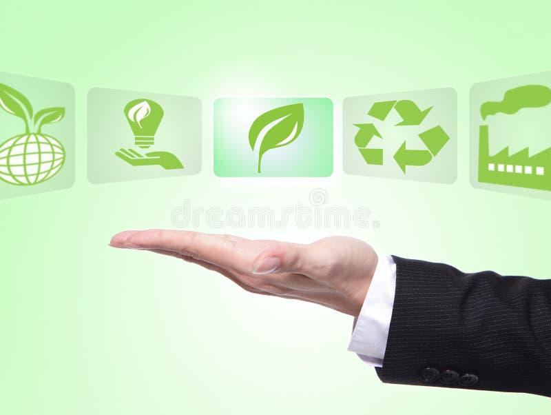 Groen ecoconcept royalty-vrije stock afbeeldingen
