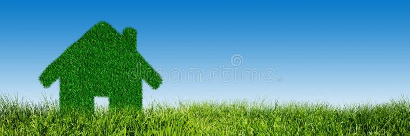 Groen, ecologisch huis, onroerende goederenconcept