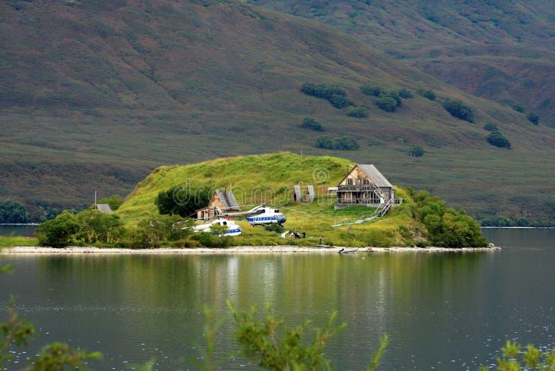 Groen eiland royalty-vrije stock fotografie