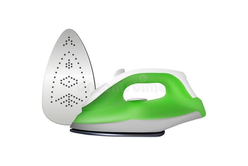 Groen elektrisch ijzer stock illustratie
