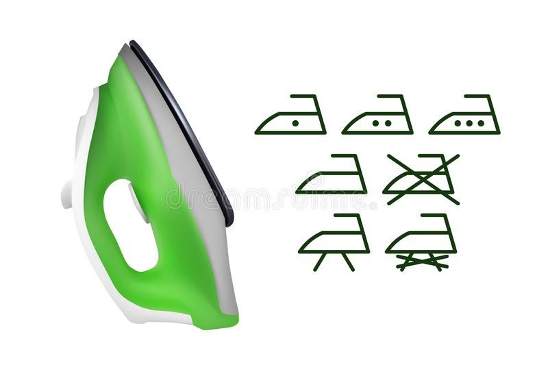 Groen elektrisch ijzer royalty-vrije illustratie