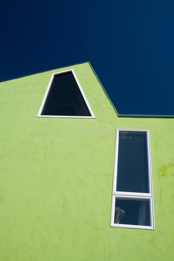 Groen en Blauw royalty-vrije stock fotografie