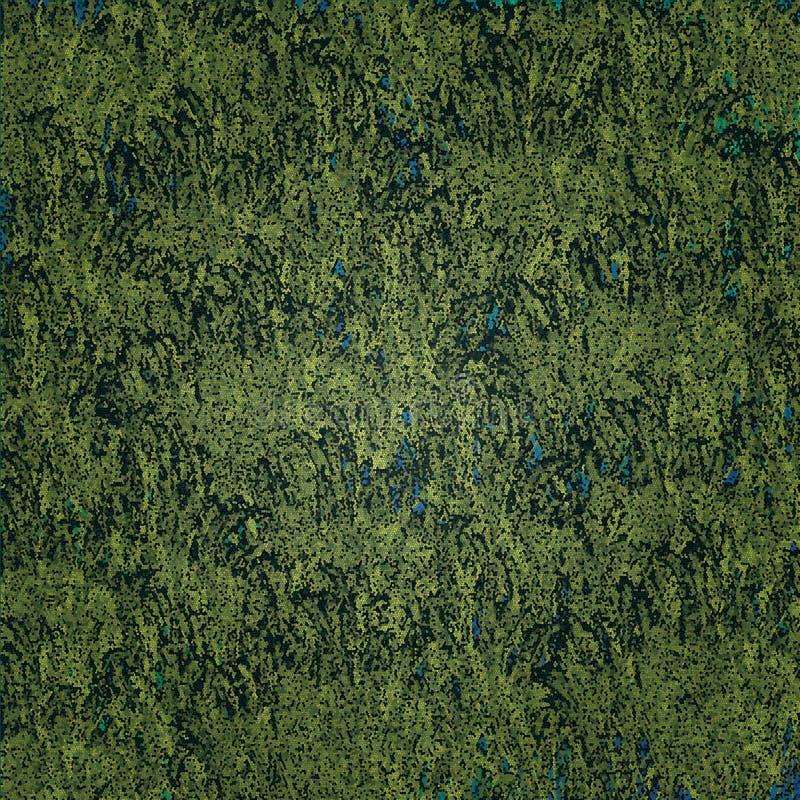 Groen en Blauw mozaïekenpatroon stock afbeelding