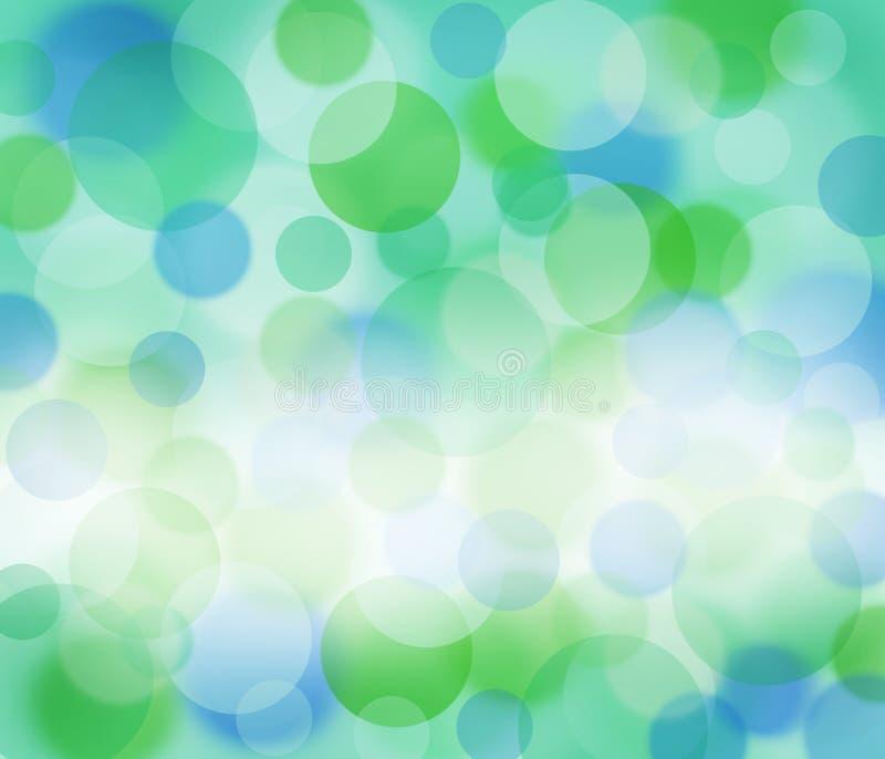 Groen en blauw onduidelijk beeld royalty-vrije stock fotografie