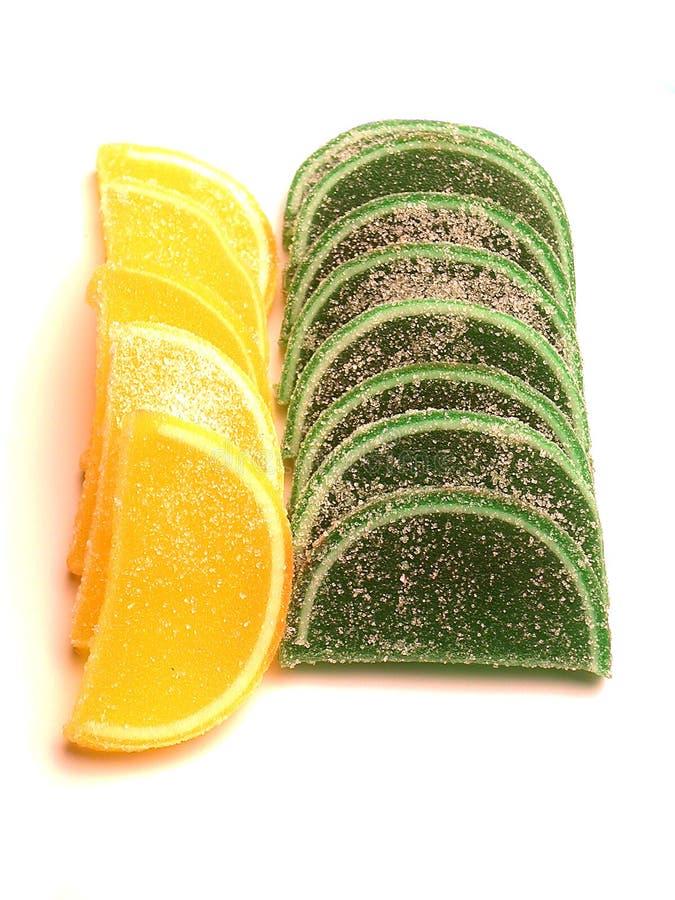 Groen En Geel Suikergoed Royalty-vrije Stock Foto