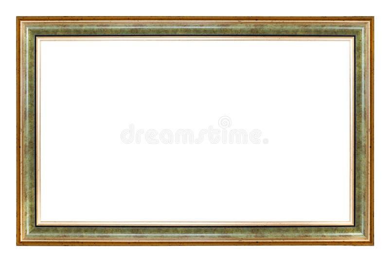 Groen en gouden rechthoekkader stock foto's