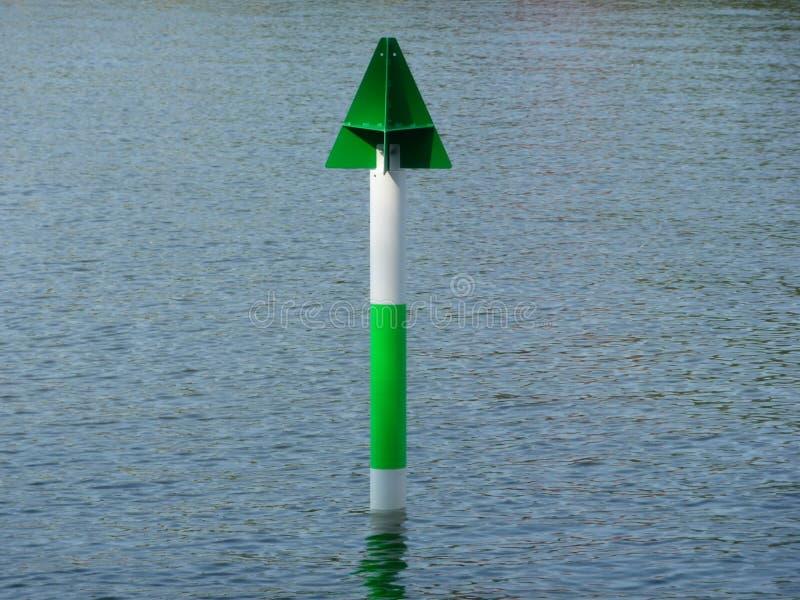 Groen en wit verschepend teken stock afbeeldingen
