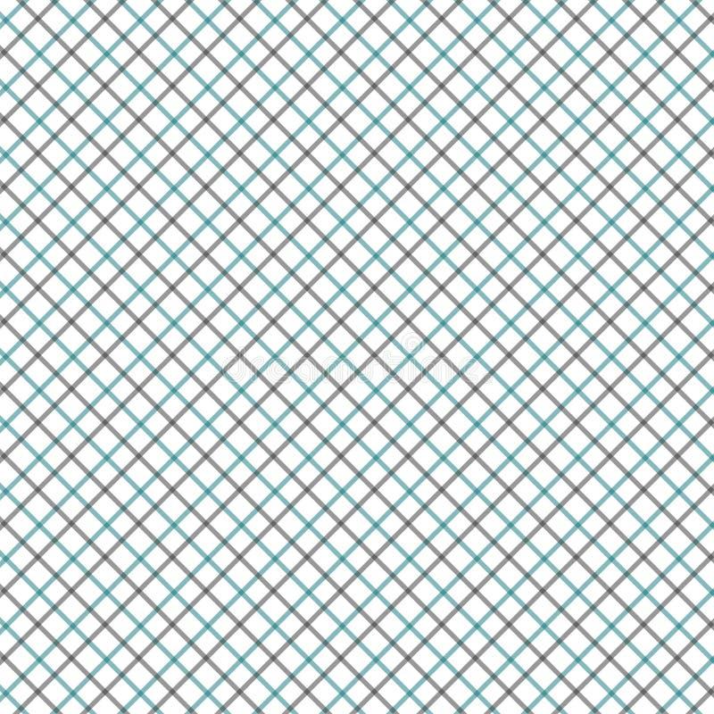 Groen en Zwart Tattersall-Controlepatroon Van de het Overhemdsmanier van mensen de Textielstof Het herhalen van het Patroon van d vector illustratie