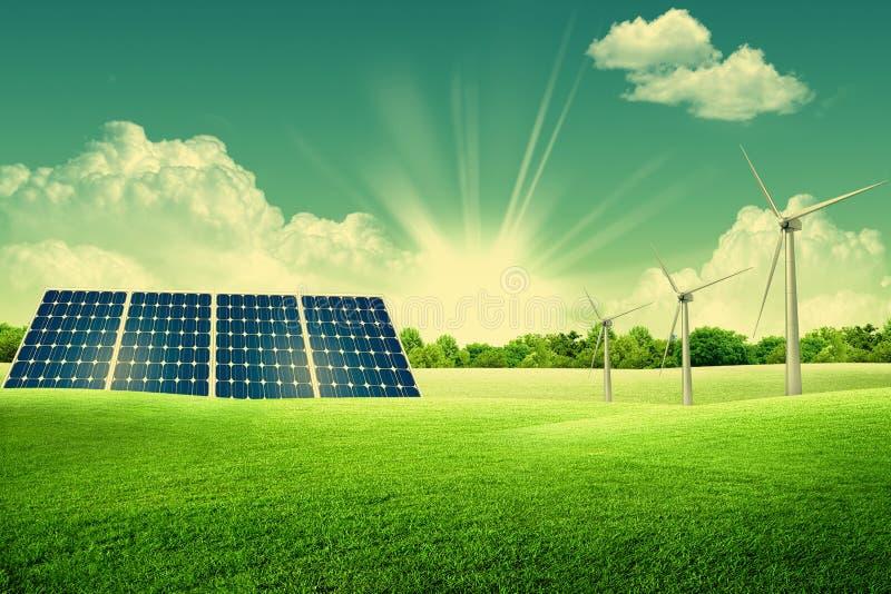 Groen energiepark royalty-vrije stock afbeelding