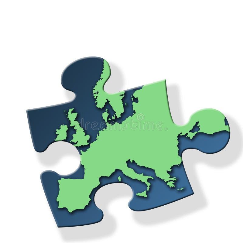 Groen Europa royalty-vrije illustratie