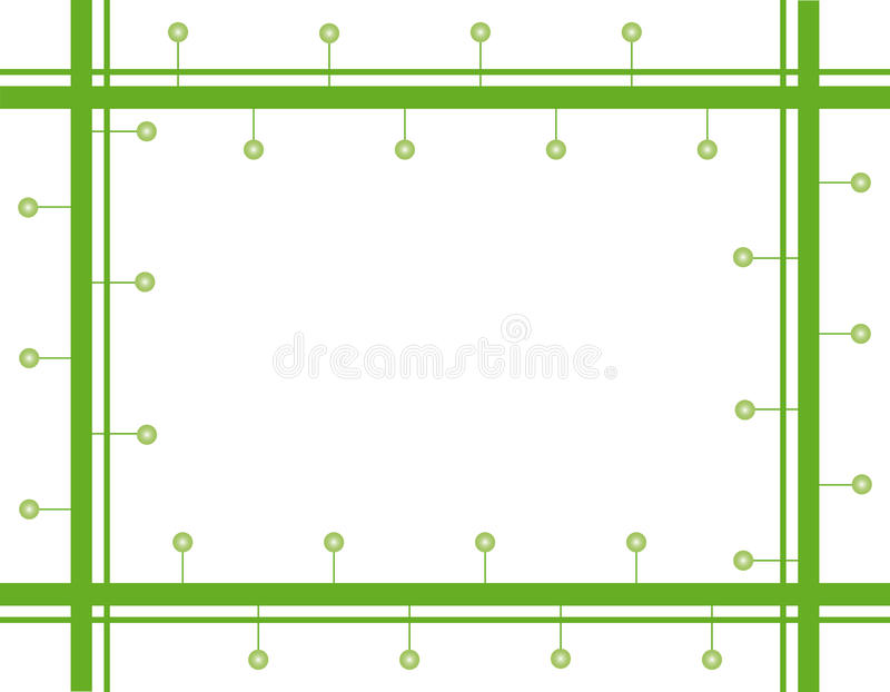 Groen frame stock illustratie