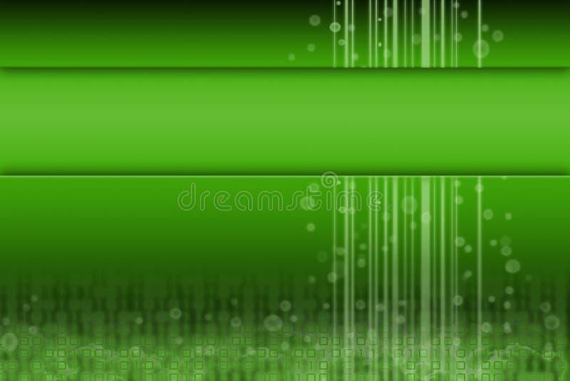 Groen futuristisch ontwerp met ruimte voor inhoud stock illustratie