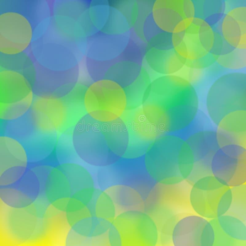 Groen, geel en blauw onduidelijk beeld royalty-vrije stock afbeeldingen