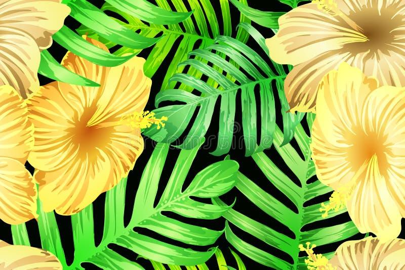 Groen geel exotisch patroon royalty-vrije illustratie