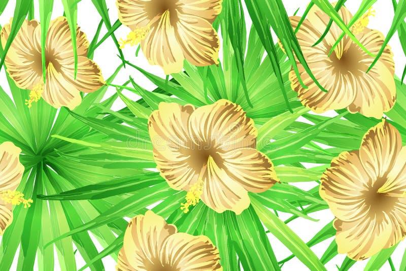 Groen geel exotisch patroon vector illustratie
