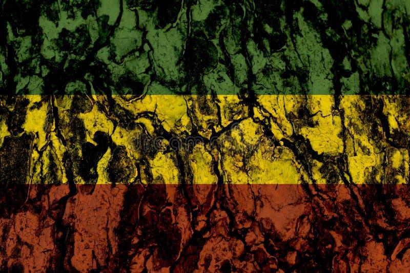 Groen geel rood op houten textuurachtergrond, reggae achtergrondconcept stock afbeeldingen