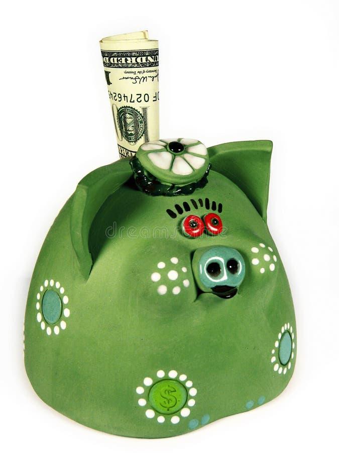 (Groen) geld-varken royalty-vrije stock foto's