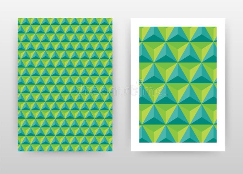 Groen geometrisch driehoeks bedrijfsontwerp als achtergrond voor jaarverslag, brochure, vlieger, affiche Vector van de meetkunde  vector illustratie