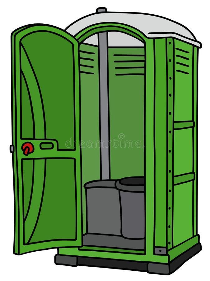 Groen geopend mobiel toilet vector illustratie