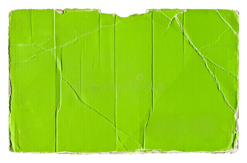 Groen gescheurd golfkarton stock afbeelding