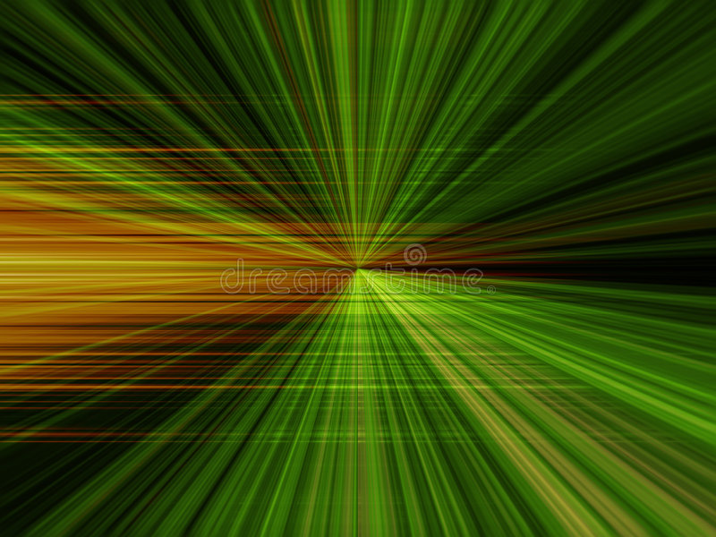 Groen gezoem royalty-vrije illustratie
