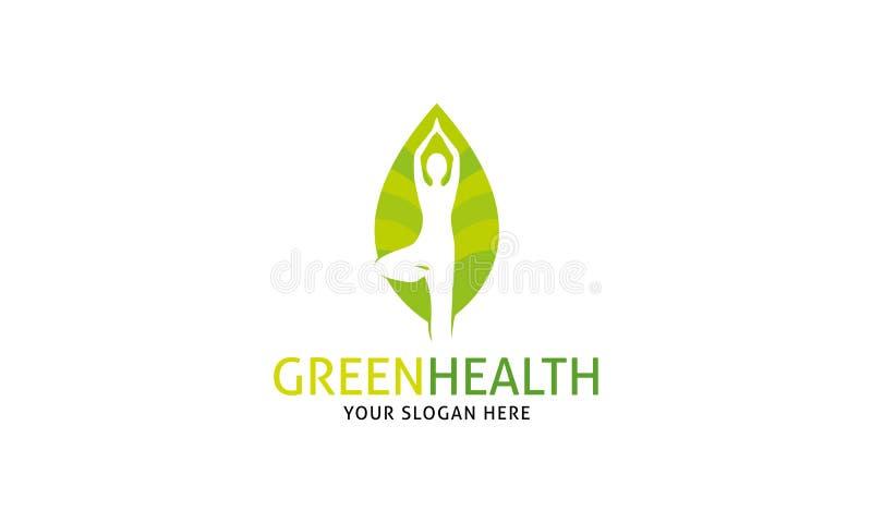 Groen Gezondheidsembleem royalty-vrije illustratie