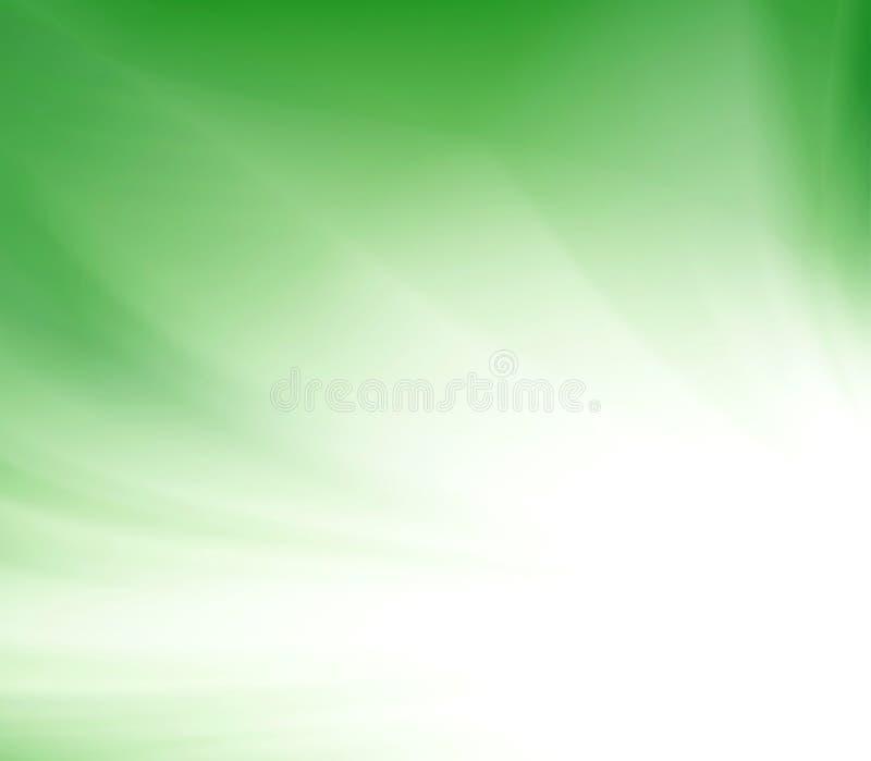 Groen glans stralenuitbarsting royalty-vrije illustratie