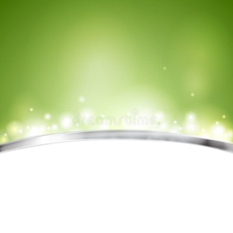 Groen glanzend vectorontwerp royalty-vrije illustratie