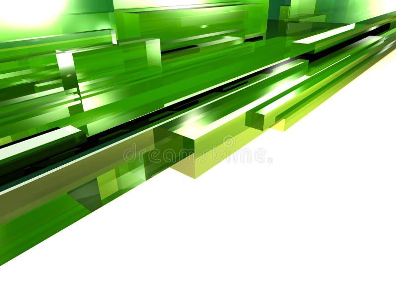 Groen glas stock illustratie