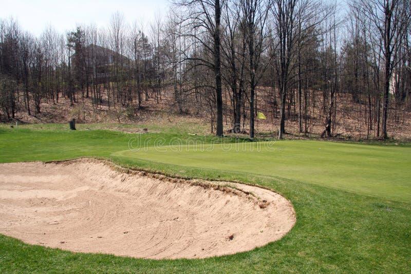 Groen golf en Bunker stock foto