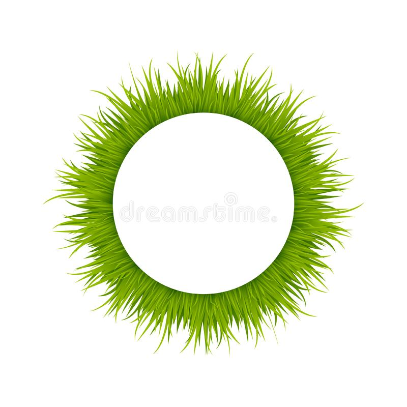 Groen gras om kader vector illustratie