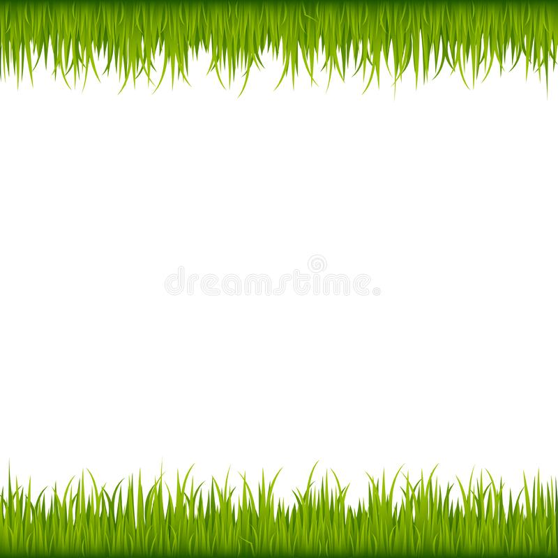Groen grasframe royalty-vrije illustratie