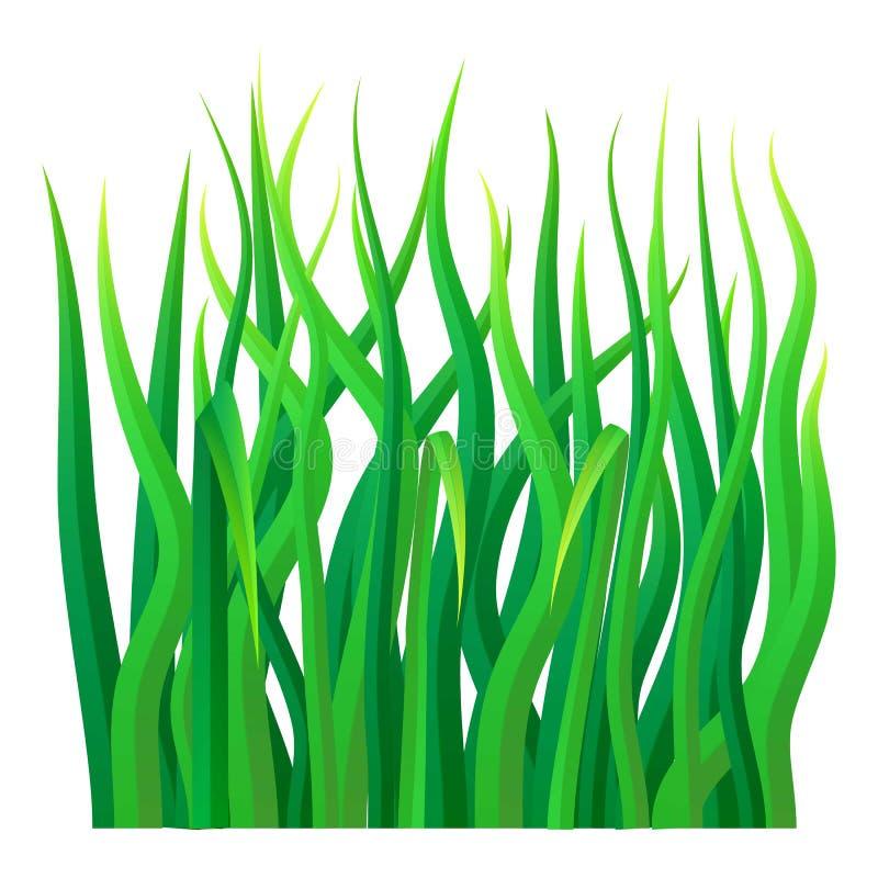 Groen graspictogram, realistische stijl royalty-vrije illustratie