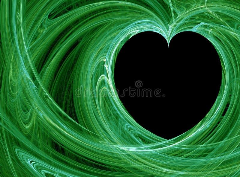 Groen hart stock illustratie