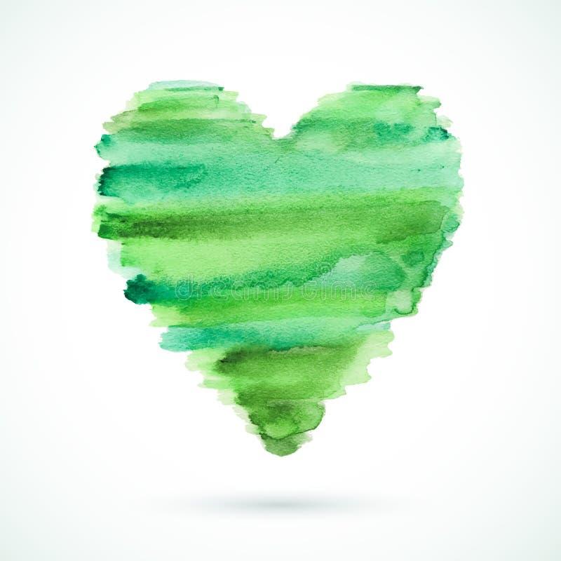Groen-hart stock illustratie